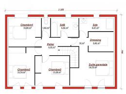 plan de maison 5 chambres exceptionnel plan maison 4 chambres etage 7 mod232le de maison