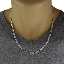 figaro mens necklace images Men 39 s 925 sterling silver figaro chain necklace 100 jpg