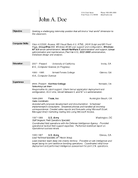 resume for college application sle sle resume for internship in computer science copy resume for