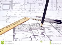 Floor Plan Of A Building Drawing A Floor Plan Of The Building Stock Photo Image 67035603