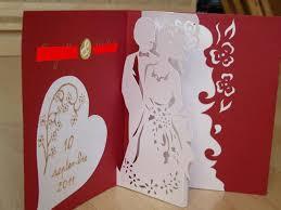 carte de fã licitations mariage carte félicitations mariage en kirigami création carterie