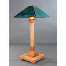 Arts And Crafts Desk Lamp Franz Gt Kessler Designs San Jose Table Lamp 8000 L2 Hard Maple