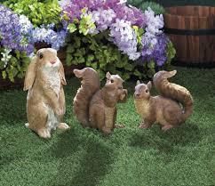 outdoor garden decor yard and garden decorations rustic resin squirrel outdoor garden