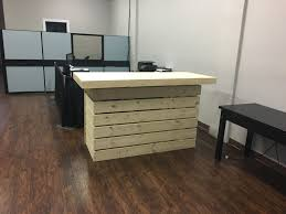 Laminate Flooring By The Pallet The Indoor Elyse Pallet Style Rustic Dry Bar Reception Desk Or