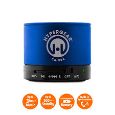 hypergear miniboom wireless speaker blue