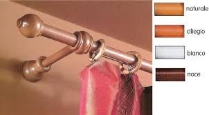 bastoni per tende in legno prezzi bastone a strappo per tenda legno bianco cm 160 纔 23 mm con