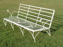 white iron patio bench bench decoration