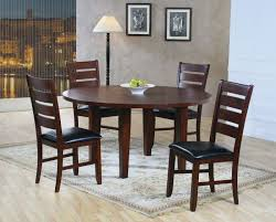 lazy susan dining table ameillia 586 60 5pcs round dark oak wood lazy susan dining table set