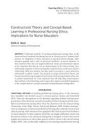 Reflective Essay Sample Pdf Constructivist Theory And Concept Based Learning In Professional