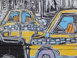 free images traffic city urban wall taxi transportation traffic city urban wall taxi transportation transport yellow graffiti painting street art art sketch drawing illustration