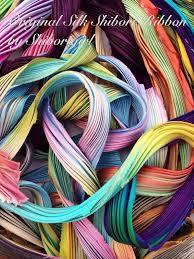 shibori ribbon silk shibori ribbon scrap bags