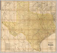 Tx Counties Map Railroad And County Map Of Texas David Rumsey Historical Map