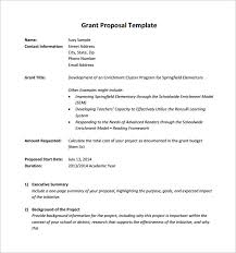 funding proposal template sample cover letter for grant proposal