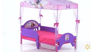 Purple Bed Canopy Minnie Mouse Bow Tique Toddler Bed With Canopy Walmart Com