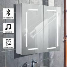 Bluetooth Bathroom Mirror Led Illuminated Bathroom Mirror Cabinet Bluetooth Speaker Shaver