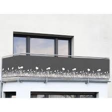 balkon sichtschutz grau wenko balkon und terrassen sichtschutz anthrazit kaufen bei obi
