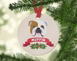 bulldog ornament pet ornament 2017 custom
