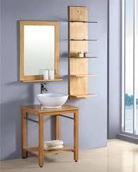 Solid Wood Bathroom Cabinet Natural Color Solid Wood Bathroom Vanity Commercial Bathroom