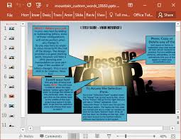 animated words on a mountain powerpoint template