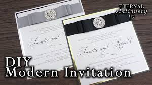 modern wedding invitations how to make modern wedding invitations diy invitation