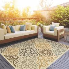 Ll Bean Outdoor Rugs Stylehaven Floral Ivory Grey Indoor Outdoor Area Rug Free