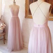 2017 cream chiffon bridesmaid dress deep v neck wedding dress