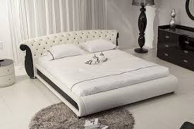 Leather Headboard Platform Bed Bedroom Trendy Oversized Tufted Leather Headboard Photos Of