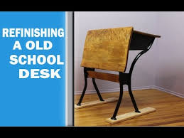 How To Refinish Desk Refinishing A Old Desk Youtube