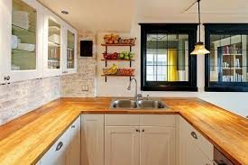 Wood Kitchen Countertops Design Ideas Designing Idea - White kitchen cabinets with butcher block countertops