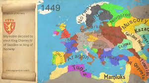 Map Of Medieval Europe Map History Of Europe End Of The Middle Age 1444 1453 Youtube