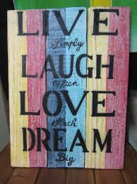 live laugh love signs funky stuff handmade recycled wood wall hanging sign 40x30 cm