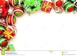 christmas ornaments clipart top border pencil and in color