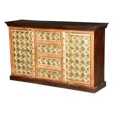 Mango Wood Side Table Peach U0026 Gold Mango Wood Sideboard Cabinet