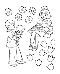 a coloring page of a little boy coloring home