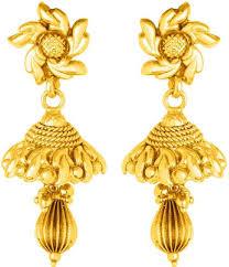 buy jhumka earrings online flipkart buy voylla glorious yellow gold plated jhumka