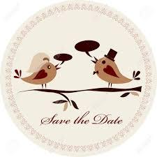 pattern for wedding invitation with birds vector illustration
