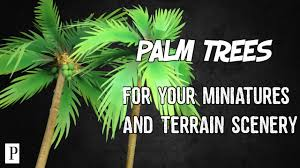 how to make palm trees for your miniatures u0026 terrain scenery youtube