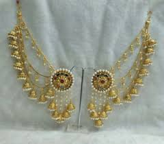 gold kaan earrings babosa sakhi bahubali jhumki indian multi color jhumka earrings