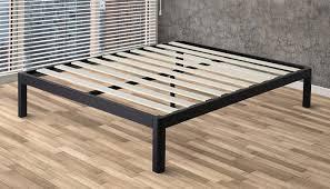Wood And Metal Bed Frame Wood Slat Metal Bed Frame Deluxe Bedroom Furniture Intellidream