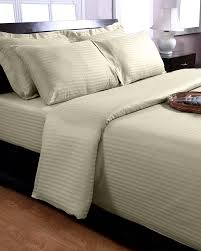 Egyptian Bed Sheets Sage Green Egyptian Cotton Stripe Duvet Cover And Pillowcases 330