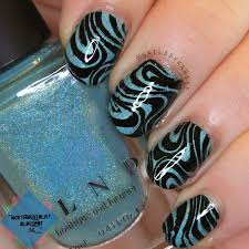 Music Nail Art Design Wavy Stamping Over Ilnp Music Box Nice Things To List