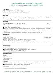 sle resume format for freshers doc resume sle doc india general resume format doc fresher resume