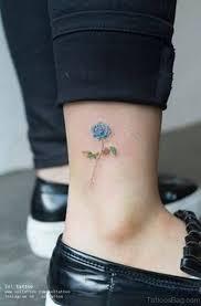 12 stunning blue rose tattoos on ankle