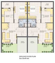 Small Duplex Plans Duplex House Plans For 20x40 Site East Facing House Decorations