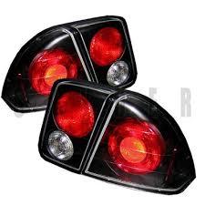 2001 honda civic tail lights honda civic sedan 2001 2005 black altezza tail lights a103mlr4110
