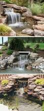 Backyard Water Falls by Backyard Waterfalls Water Garden Stream With Stone Bridge In A
