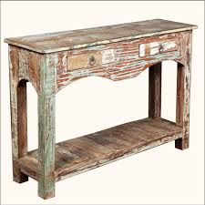 Entry Way Table Delighful Distressed Entryway Table Anna Collection Console