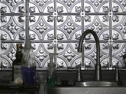 Aluminum Backsplash Kitchen Kitchen Metal Tile Backsplashes Hgtv Kitchen Backsplash Tiles