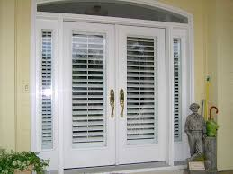 shutters faux white door exterior french door window treatments