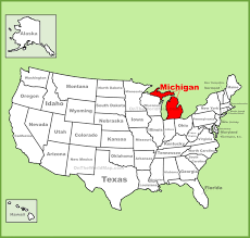 map of michigan united states map map of usa